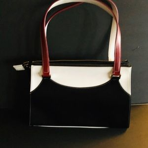 Nine West red white and black hand bag